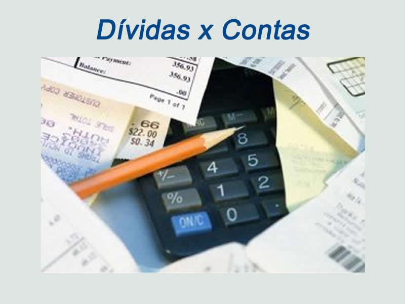 Qual a diferença entre dívida e conta